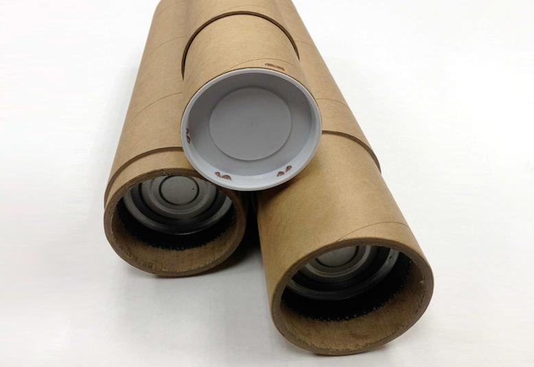 Heavy Duty Kraft Tubes Mailing Plastic Plugs End Caps