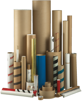 A variety of tubes and cores manufactured by Chicago Mailing Tube