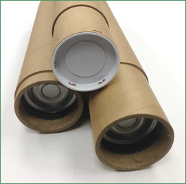 Three heavy-duty telescopic kraft mailing tubes