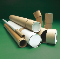 Group Of Different Sized Kraft Mailing Tubes With End Caps