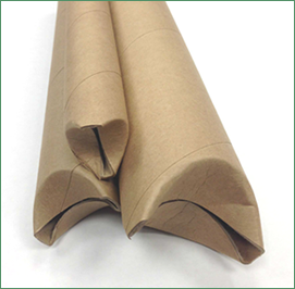 Three self-locking kraft mailing tubes